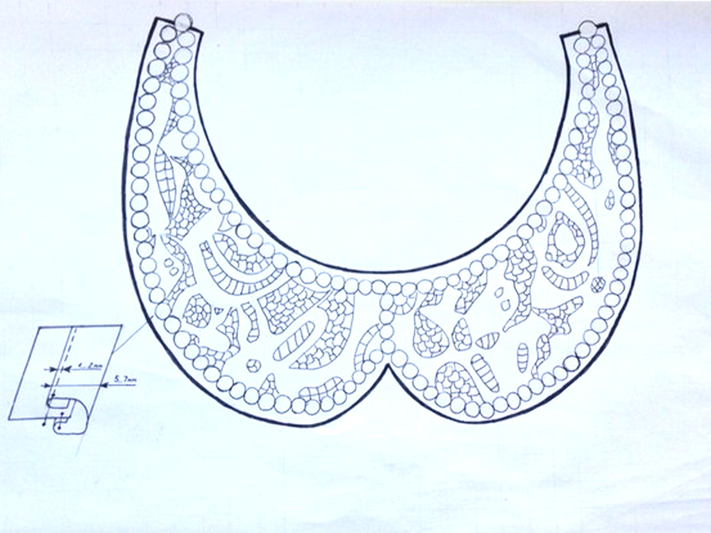 Рис. 2. Схема воротника