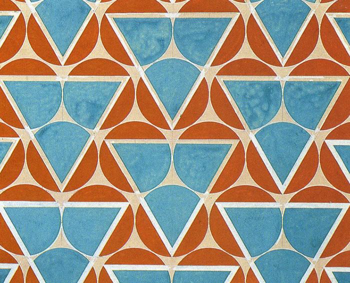 Проект конструктивисткой ткани Варвары Степановой. 1925
