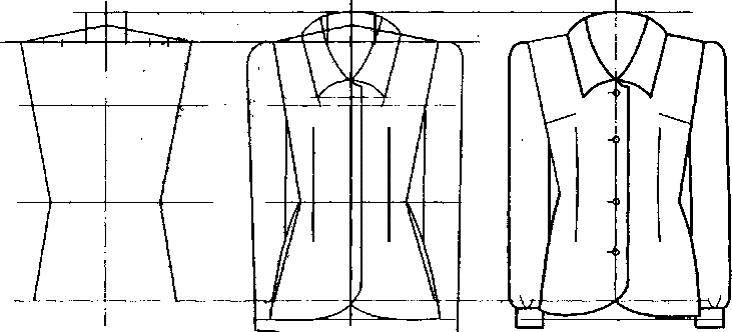 Последовательность рисования блузки