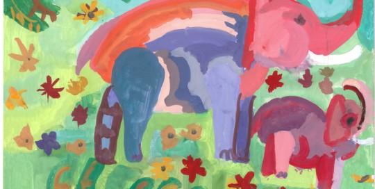Слон. Кира Преображенская, 7 лет
