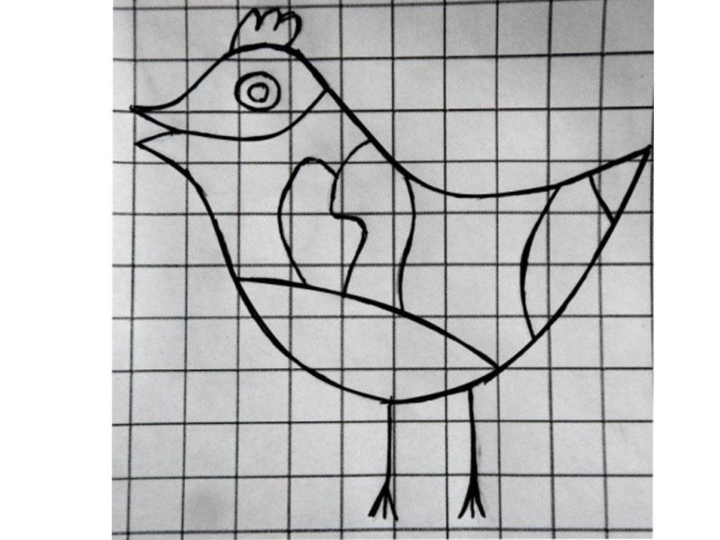 Рисунок 2. Схема птички. Юля Санникова