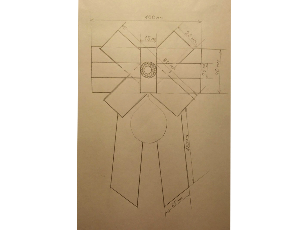 Рисунок 1. Технический рисунок.  Элла Сурта